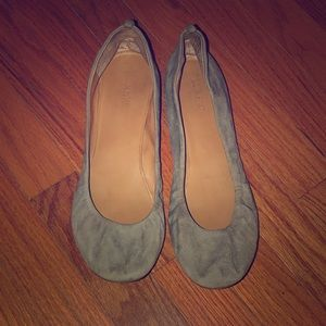 J Crew Suede Flats Size 10